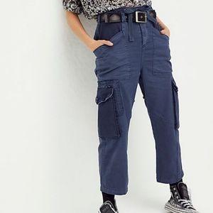 Free People Boyfriend Navy Zion Cargo Pants
